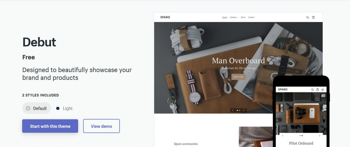 debut-theme-for-single-product-shopify-store