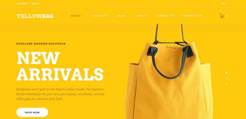 yellow-bag-shopify-themes-for-bags