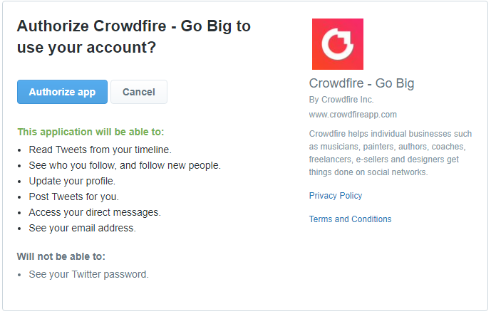 crowdfire-authorization