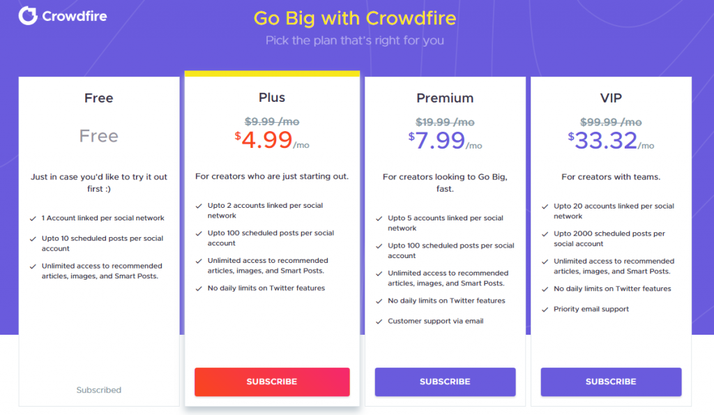 crowdfire-pricing