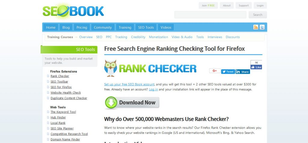 seobook-free-tracking-software
