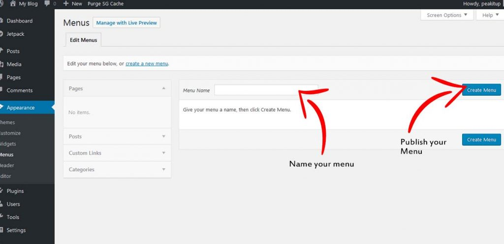 wordpress-creating-menu