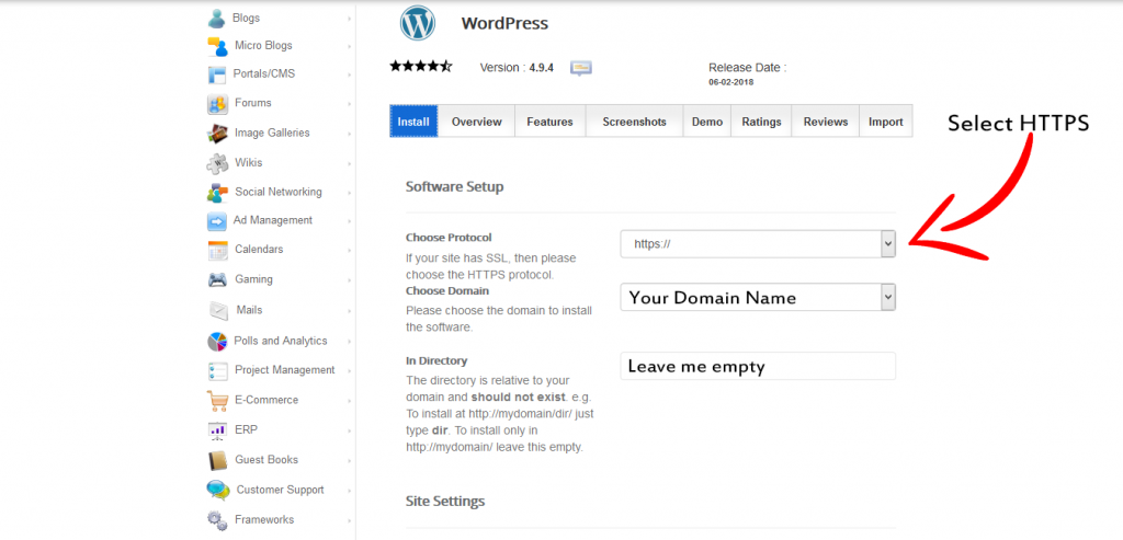 wordpress-installer-settings