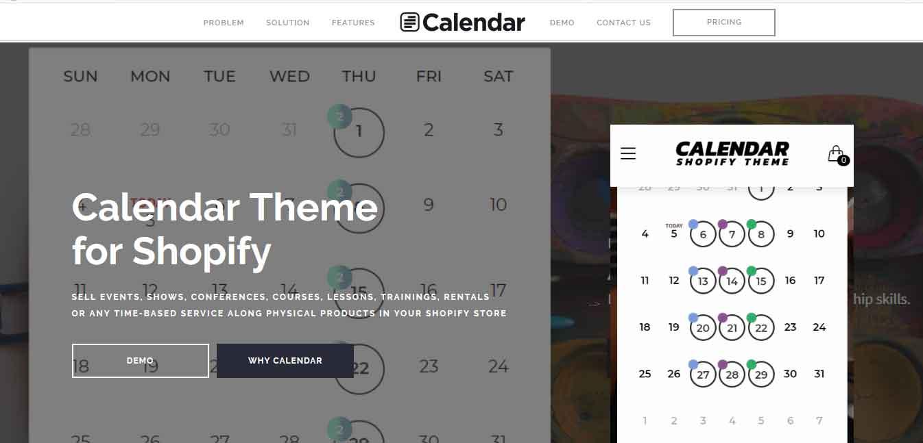 calendar-shopify-theme