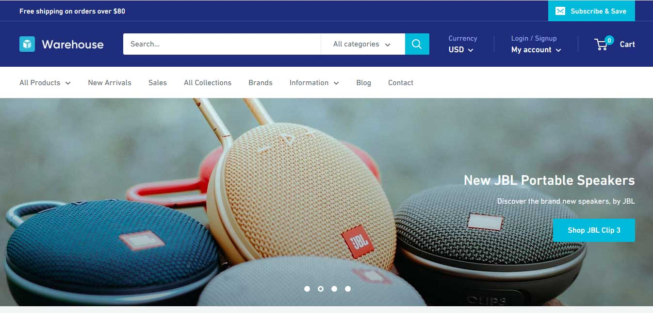 warehouse-shopify-template