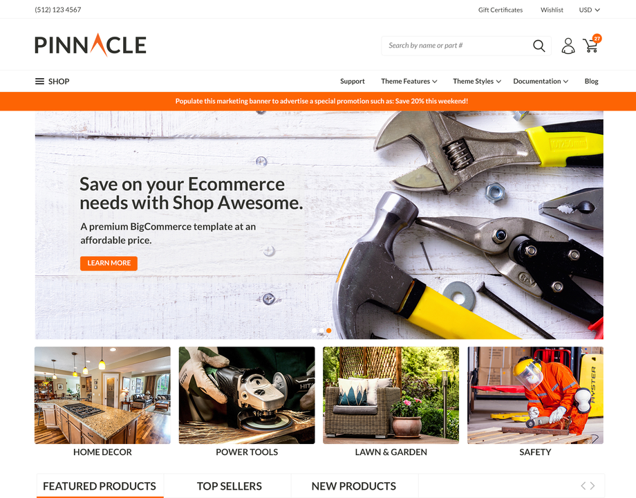 pinnacle impact bigcommerce theme
